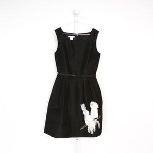 Oscar de la Renta Fit and Flare Bird Dress